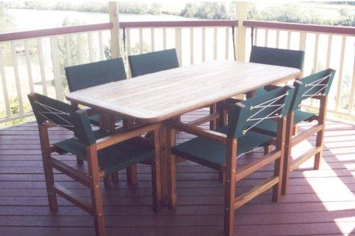 1.8 x .900m Table Miarri Chairs