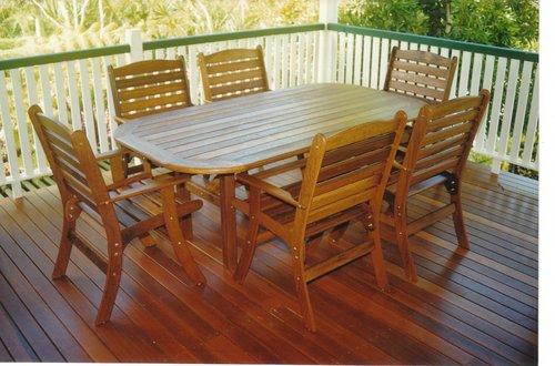 2m x 1m Table Laguna Chairs