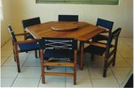 1.5m Hexagonal Table Miami Chairs