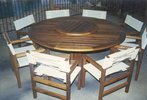 1.8m Round Table Miami Chairs