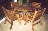 1m Round Table Laguna Chairs
