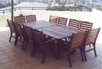 2/1.4m x 1.4m Tables Laguna High Back Chairs