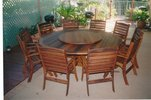 2.1m Round Table Laguna High Back Chairs