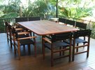 2.4m x 1.4m Table Miami Chairs