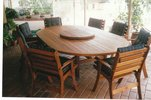 2.5m x 1.6m Oval Table Laguna Chairs