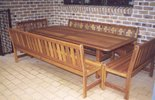 2.4m x 1m Table Kirra Benches (with backs)