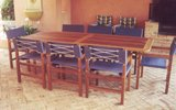 2.4m x 1m Table Miami Chairs