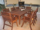 2.6m x 1m Table Laguna High Back Chairs