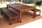 2m x 1m Table Kirra Benches