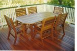 2m x 1m Table Laguna Chairs