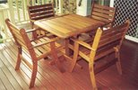 .900 x .900 Table 4 Laguna Chairs